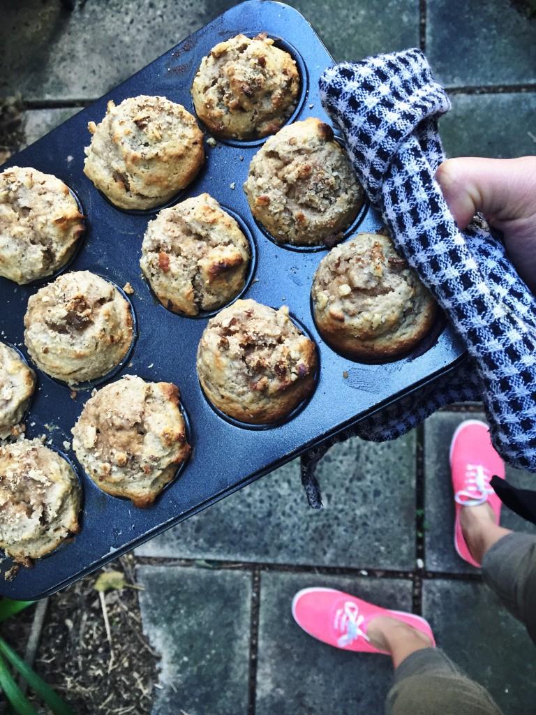Banana & Tahini Grain Free Mini Muffins