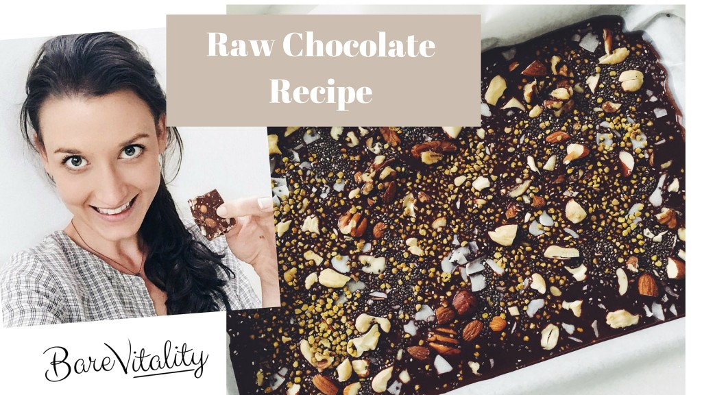 Raw Chocolate Recipe- 4 ingredients!!