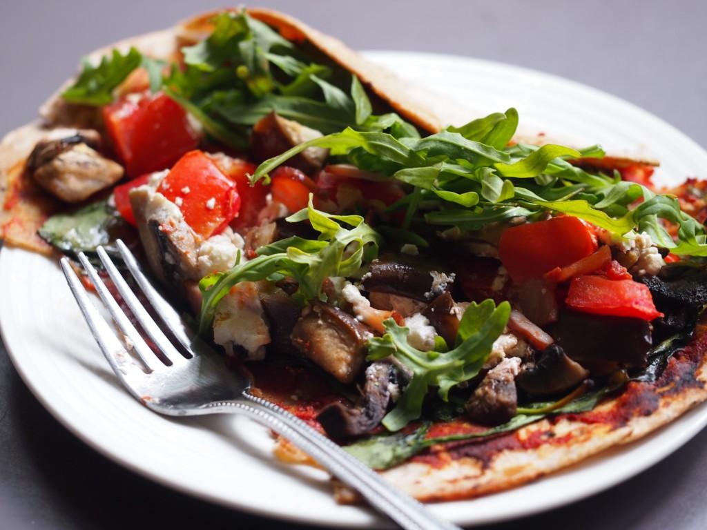 Healthy Gluten Free Pizza Wraps!